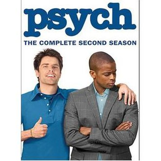 Psych (season 2) - The DVD cover of the second season of Psych
