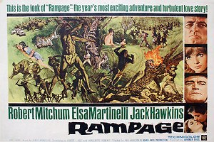 Rampage (1963 film) - Original film poster by Frank McCarthy