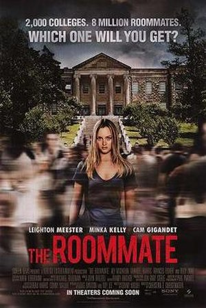 IStock - This background of a movie poster for the 2011 film The Roommate was provided by iStockphoto. The image is that of the Christy Administration building at Southwestern College. The college believes this image was used without their permission.