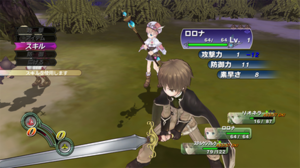Atelier Rorona: The Alchemist of Arland - A battle in Atelier Rorona depicting characters Sterkenburg and Rorona