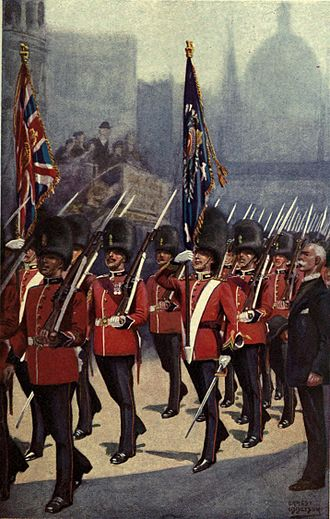 Royal Fusiliers - The Royal Fusiliers marching through the City of London in 1916