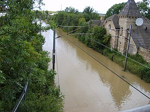 Adwick le Street - Station flooded in 2007