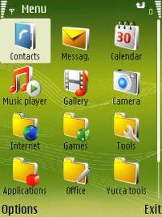 S60 (software platform) - Symbian S60v3 (3rd Edition) menu on a Nokia N73.