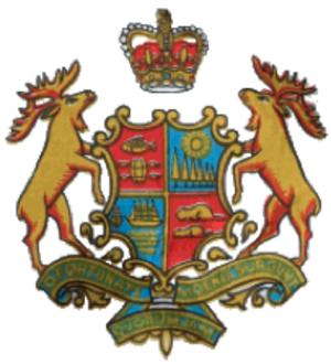 History of Saint John, New Brunswick - The Saint John Coat of Arms denoting important symbols of the city's fishing, shipbuilding, shipping port and forestry