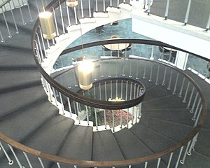 San Jacinto College - The stairs in the Library in the Central campus