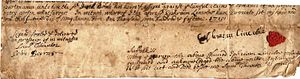 Samuel Thaxter - A 1715 deed signed and recorded by Samuel Thaxter, a property of Dr. Shiwei Jiang of Virginia
