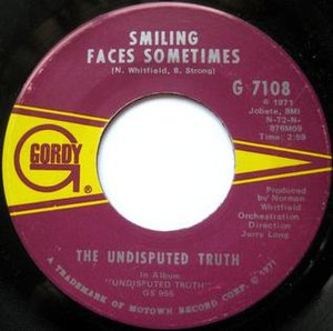 Smiling Faces Sometimes - Image: Smiling Faces Sometimes The Undisputed Truth