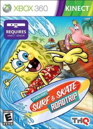SpongeBob's Surf & Skate Roadtrip - Xbox 360 Cover