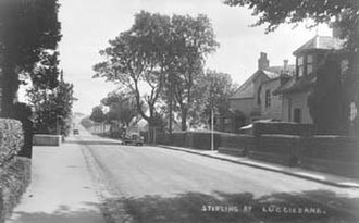 Luggiebank - Postcard of Stirling Road from around 1925