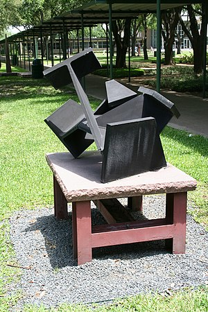 Strake Jesuit College Preparatory - Carlos Setien's Untitled on Strake campus