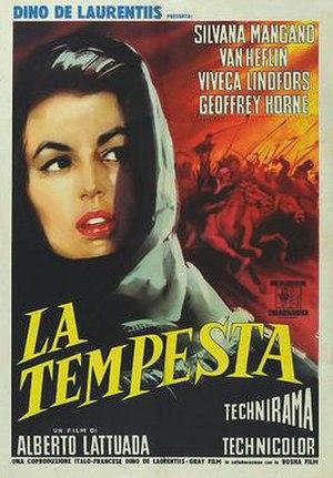Tempest (1958 film) - Italian theatrical release poster