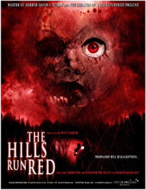The Hills Run Red (2009 film) - Theatrical release poster