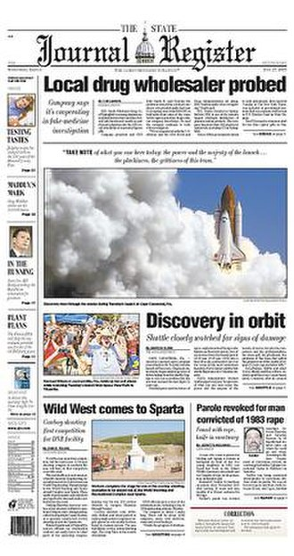 The State Journal-Register - Image: The State Journal Register front page