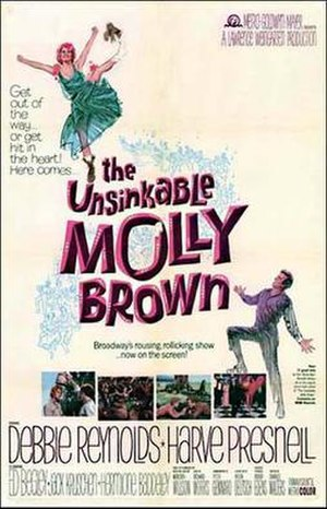 The Unsinkable Molly Brown (film) - Theatrical release poster