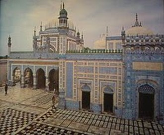 Shah Abdul Latif Bhittai - The grand mausoleum of Bhittai was built by Mian Ghulam Shah Kalhoro in 1762 AD