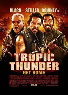 <i>Tropic Thunder</i> 2008 film directed by Ben Stiller