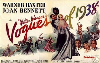 <i>Walter Wangers Vogues of 1938</i> 1937 film directed by Irving CummingsCharles Kerr (assistant)