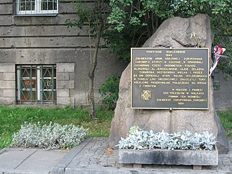 Monuments to the Warsaw Uprising - Only in the 1990s were monuments with full details of the fighting permitted.
