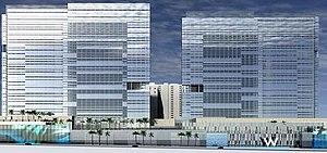 W Las Vegas - Rendering of the W Las Vegas Resort by Lacina Heitler Architects.
