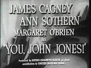 You, John Jones! - Screenshot of title frame