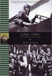 20 Hrs., 40 Min (Amelia Earhart memoir - front cover).jpg