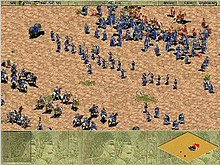 Two armies squaring off, sporting an array of units.
