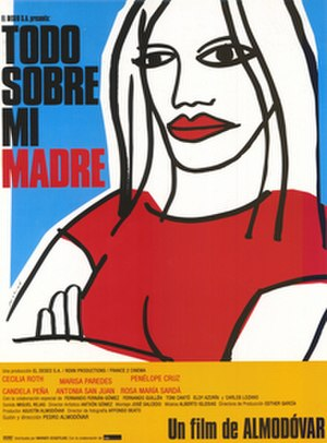 All About My Mother - Original poster by Oscar Mariné