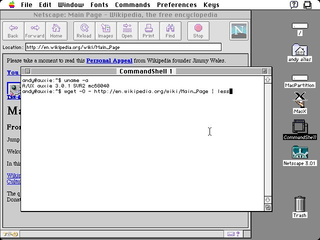 A/UX Early Unix-based operating system from Apple Computer