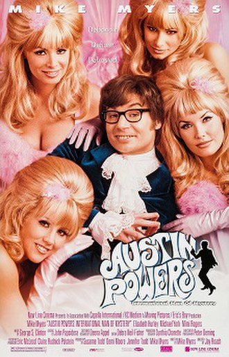 Austin Powers: International Man of Mystery - Theatrical release poster