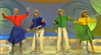 "Eurovision Song Contest 1981 - Bucks Fizz performing ""Making Your Mind Up"""
