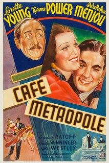 <i>Cafe Metropole</i> 1937 film by Edward H. Griffith