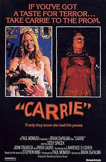 <i>Carrie</i> (1976 film) American supernatural horror film directed by Brian De Palma