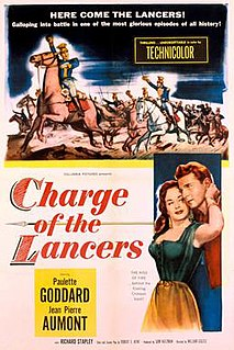 <i>Charge of the Lancers</i> 1954 film by William Castle