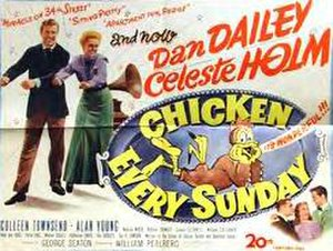 Chicken Every Sunday - Original poster