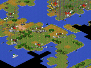 Civilization (series) - The main game screen in Civilization II