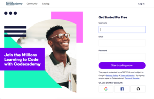Codecademy - Image: Codecademy home