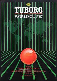1987 World Cup (snooker) Snooker tournament, held 1987