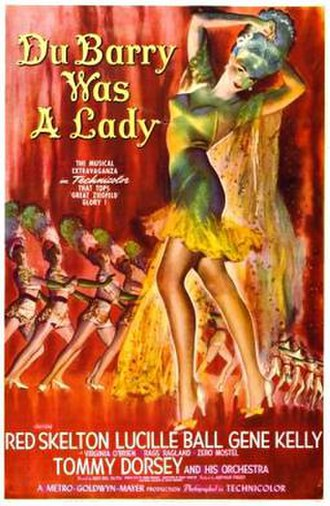 Du Barry Was a Lady (film) - theatrical release poster
