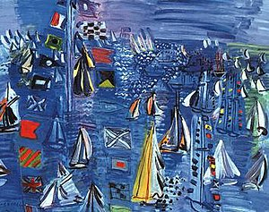 School of Paris - Raoul Dufy, Regatta at Cowes, 1934, Washington D.C. National Gallery of Art