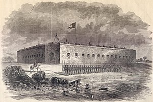 Fort Pulaski National Monument - Fort Pulaski used as Confederate prison camp from 1861-1862