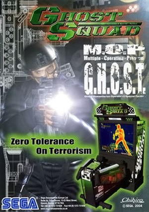 Ghost Squad (video game) - Arcade flyer