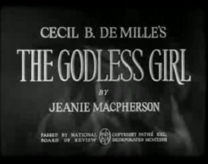 The Godless Girl - title card