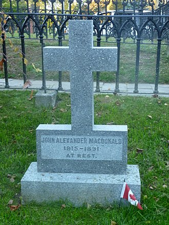 Cataraqui Cemetery - Grave of Sir John A. Macdonald, Cataraqui Cemetery, Kingston, Ontario
