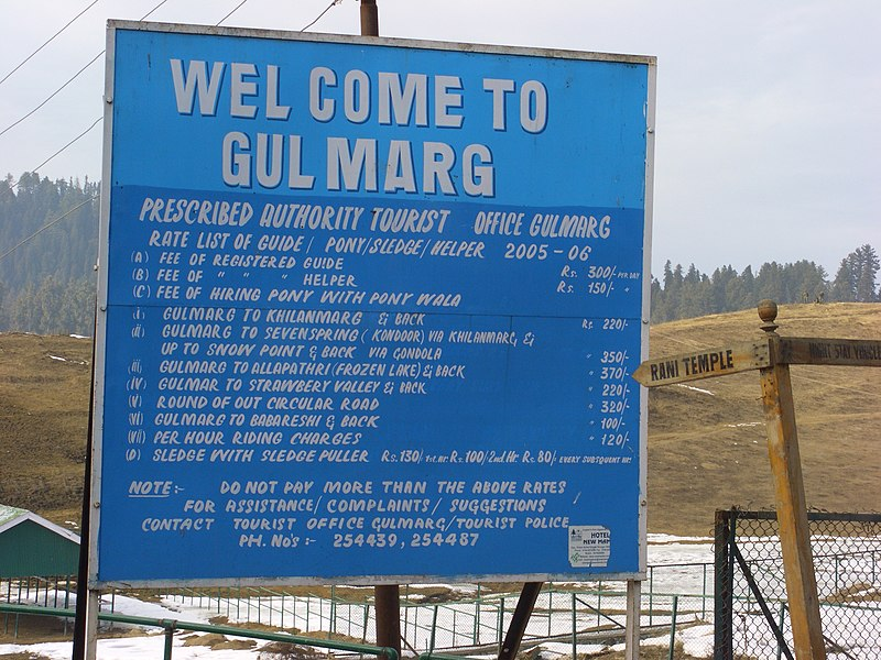 File:Gulmarg-Tourist-Rate-List.JPG