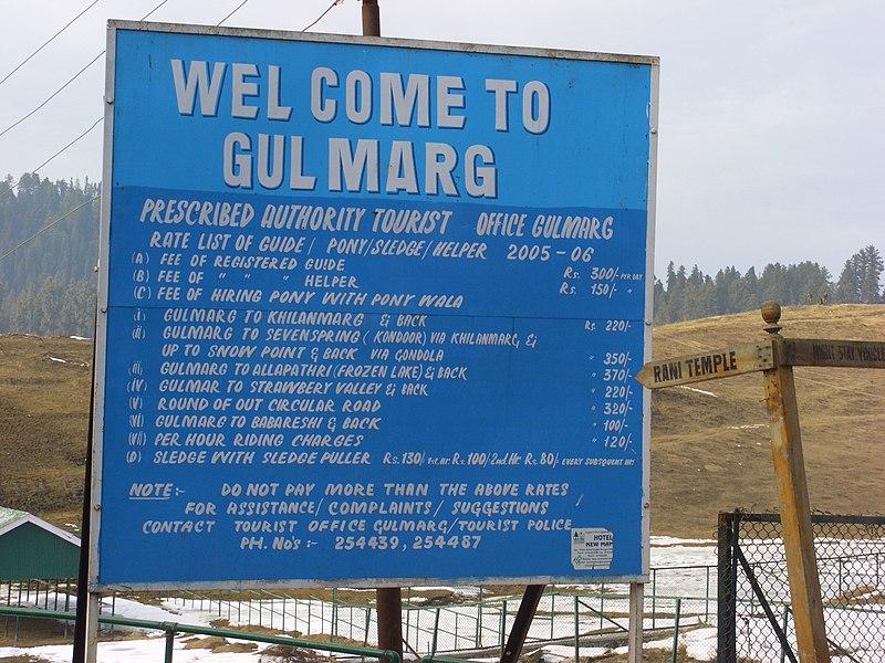 File:Gulmarg-Tourist-Rate-List.JPG