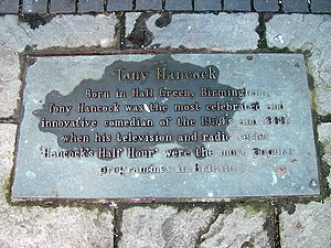 Tony Hancock - Commemorative plaque at the foot of the Birmingham statue