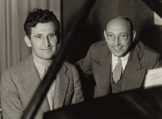 L to R: Harry Ruby and Bert Kalmar