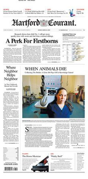 Hartford Courant - Image: Hartford Courant March 24 2008