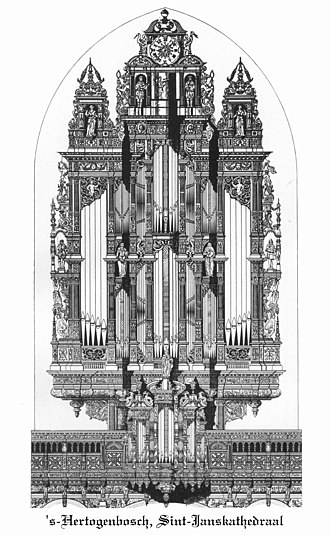St. John's Cathedral ('s-Hertogenbosch) - The pipe organ of the cathedral was built by Heyeman between 1617 and 1621
