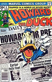 Howard the Duck #8 (Jan. 1977). Cover art by Gene Colan and Steve Leialoha.